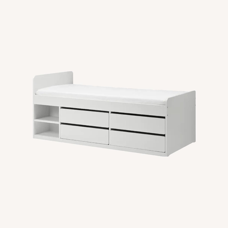IKEA Slakt Bedframe with Storage - image-0