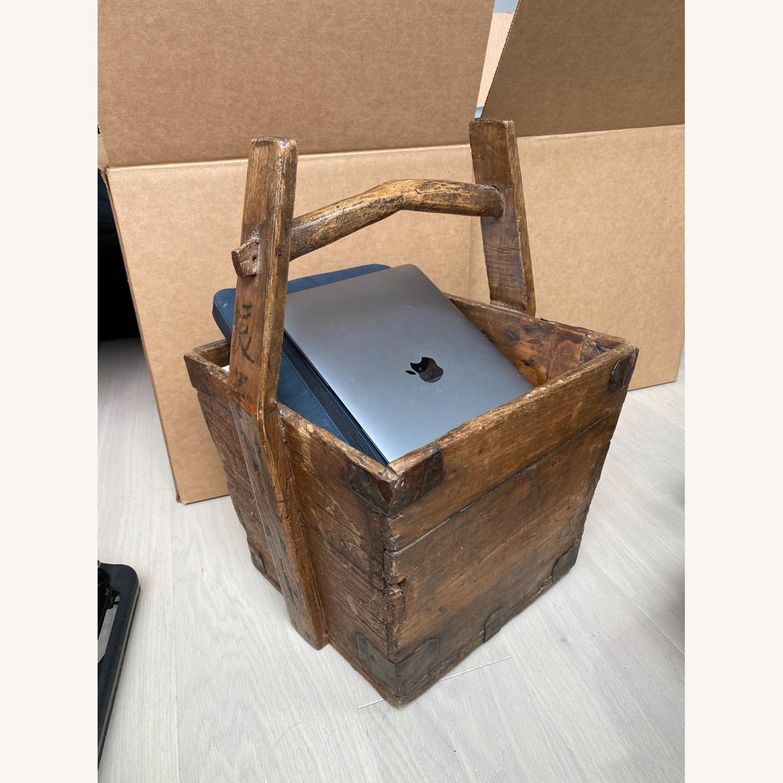 Vintage Solid Wood Storage Basket - image-3
