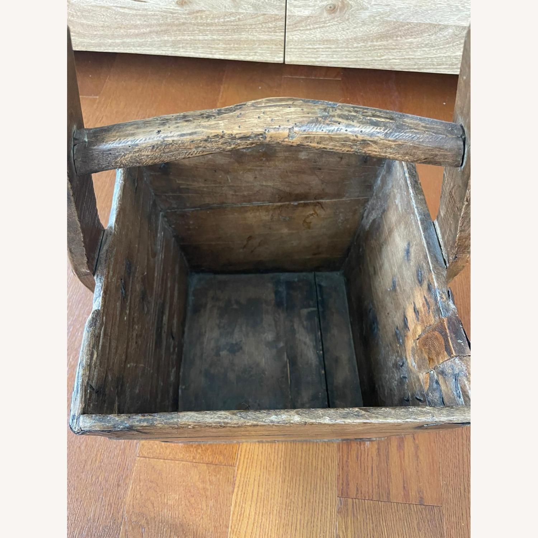 Vintage Solid Wood Storage Basket - image-2