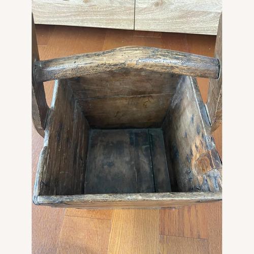Used Vintage Solid Wood Storage Basket for sale on AptDeco