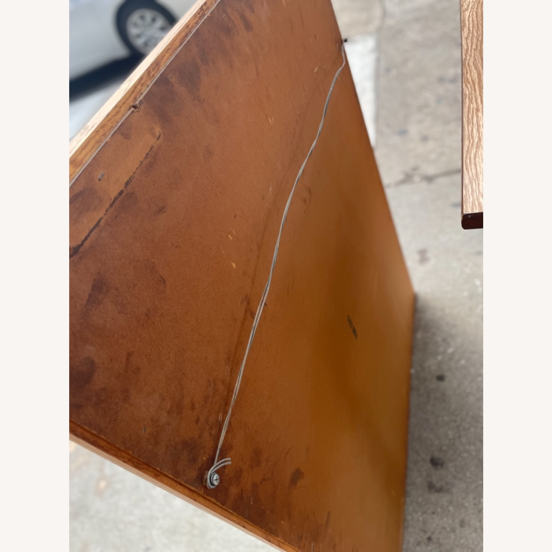 David M. Lea Mid Century Oak Framed Wall Mirror - image-8