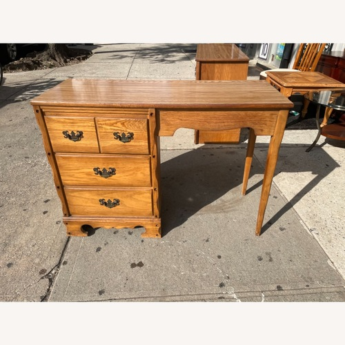 Used David M. Lea Mid Century 1960s Oak Desk for sale on AptDeco