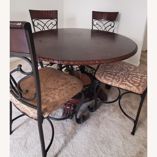 Used Ashley Glambrey Dining Table Set of 4 (28inches height) for sale on AptDeco