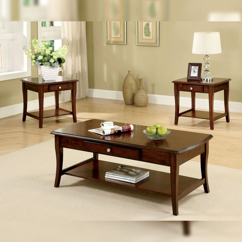 Furniture of America Gunn 3 Piece Coffee Table Set - image-2