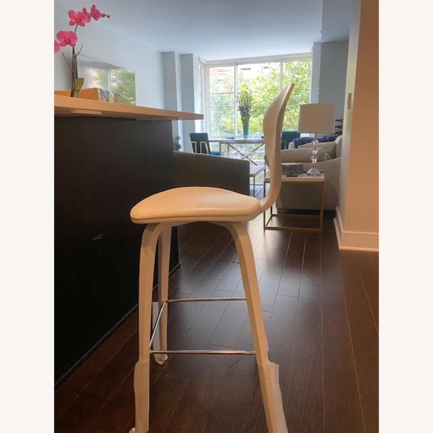 Cherner Stool with Leather Seat Pad - image-4