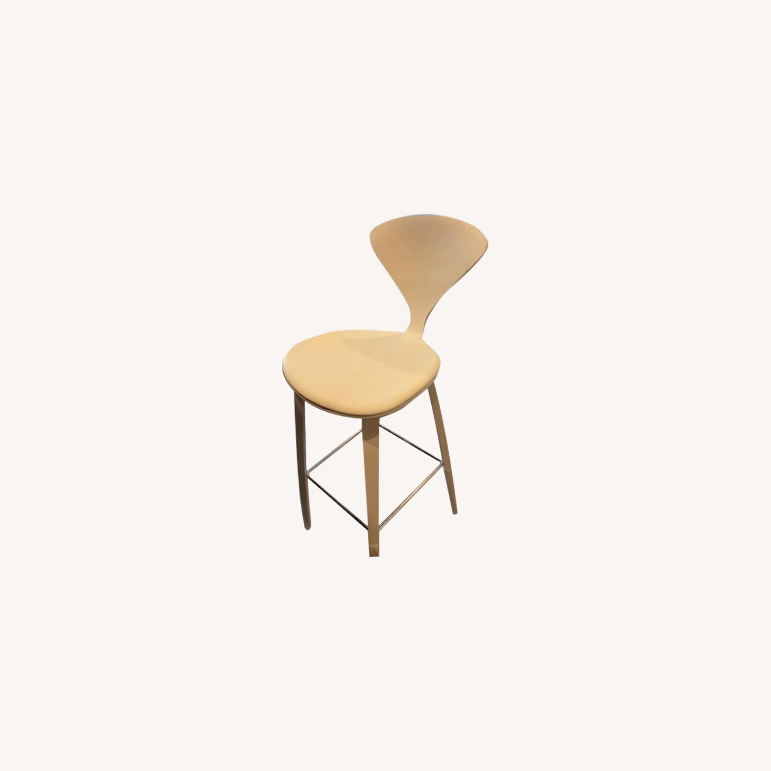 Cherner Stool with Leather Seat Pad - image-0