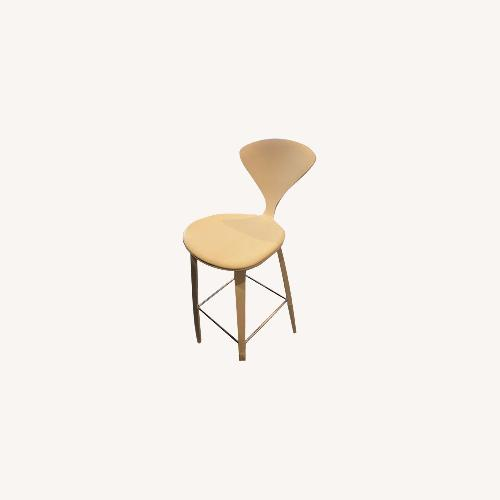 Used Cherner Stool with Leather Seat Pad for sale on AptDeco