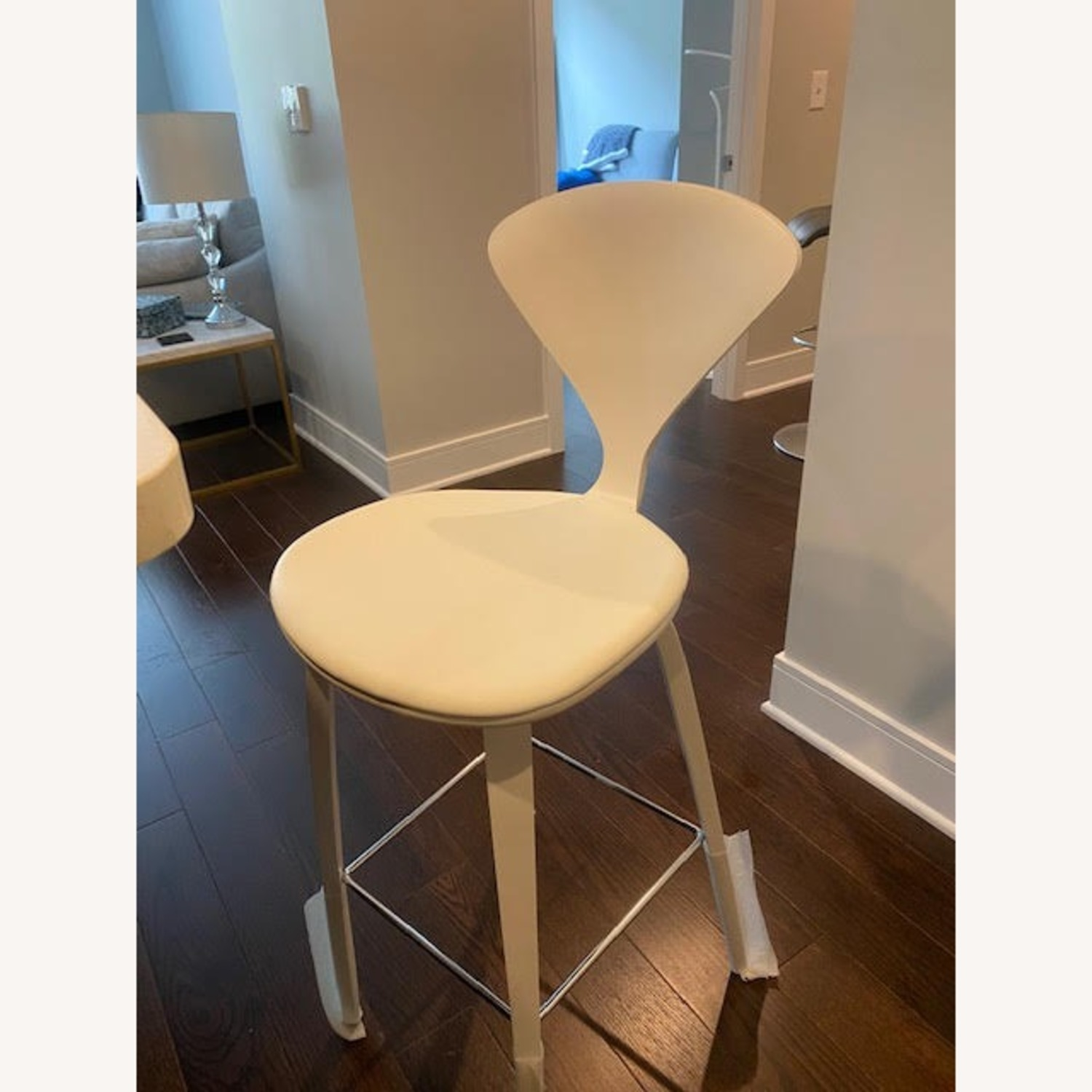 Cherner Stool with Leather Seat Pad - image-2