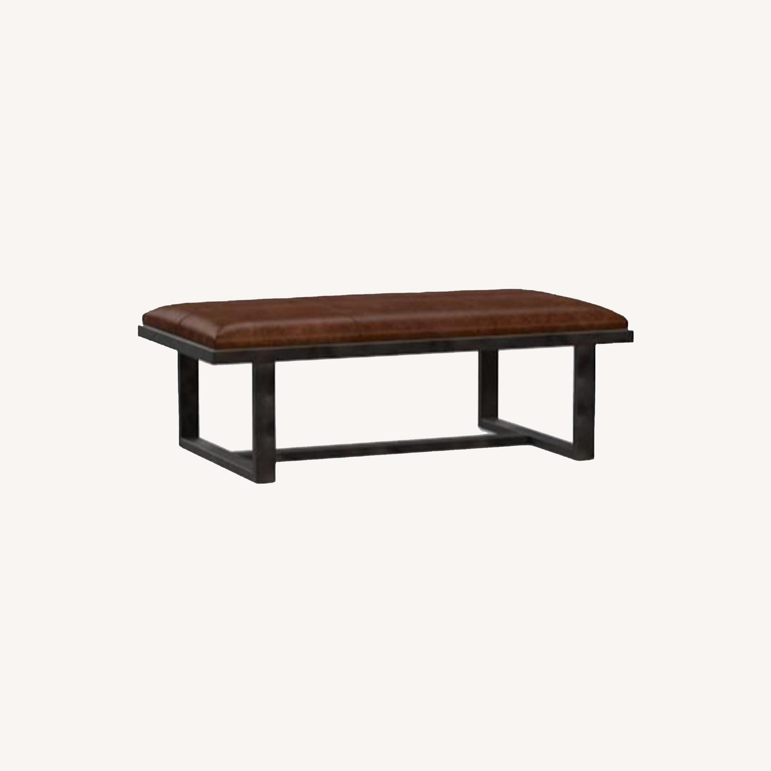 Pottery Barn Griffin Ottoman - image-0