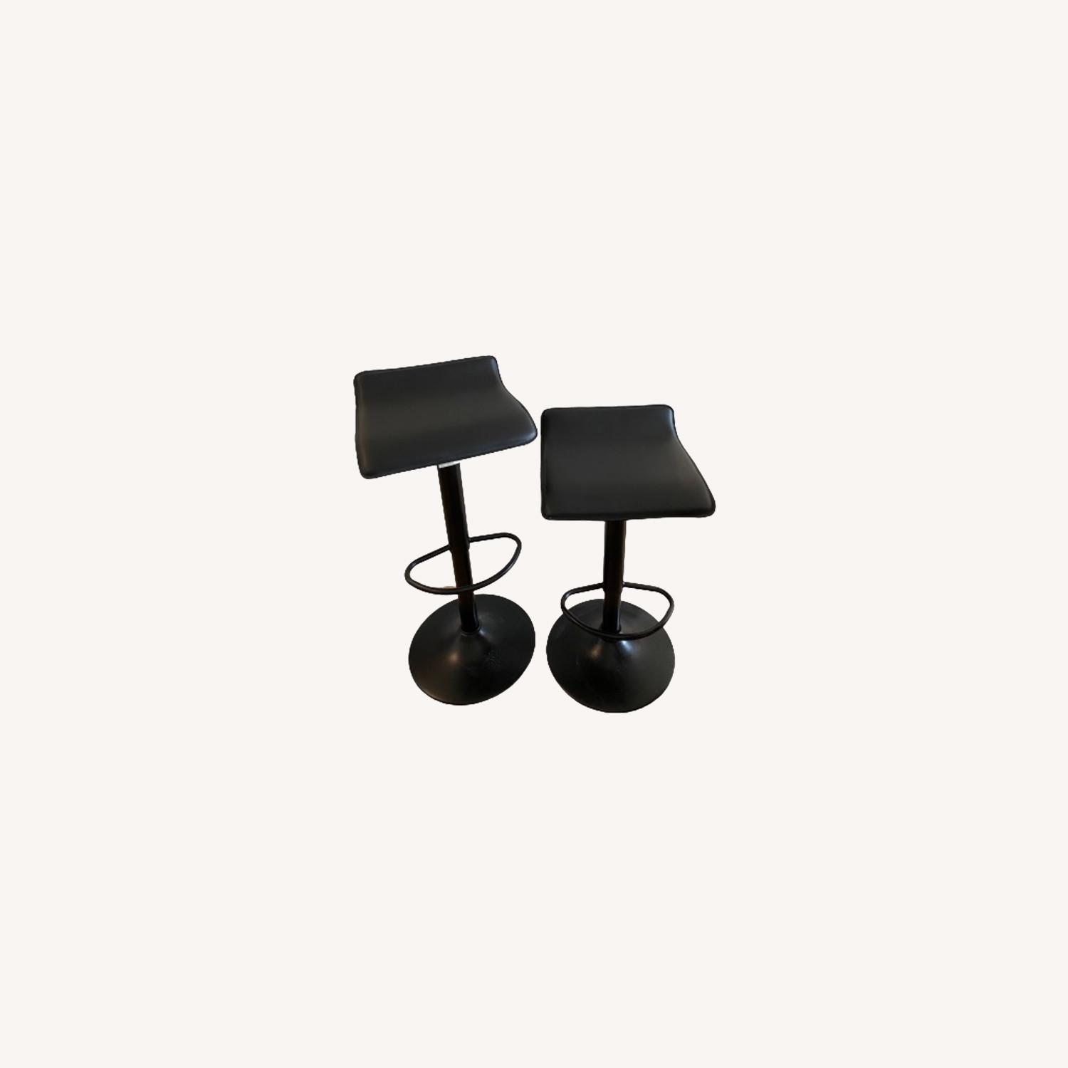 AllModern Set of 2 Black Adjustable Counter Stools - image-0