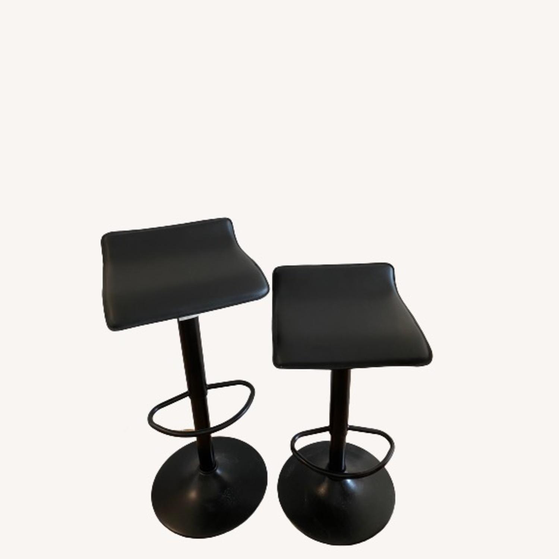 AllModern Set of 2 Black Adjustable Counter Stools - image-1