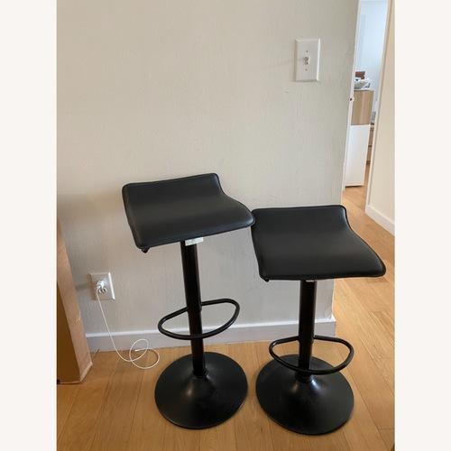 Used AllModern Set of 2 Black Adjustable Counter Stools for sale on AptDeco
