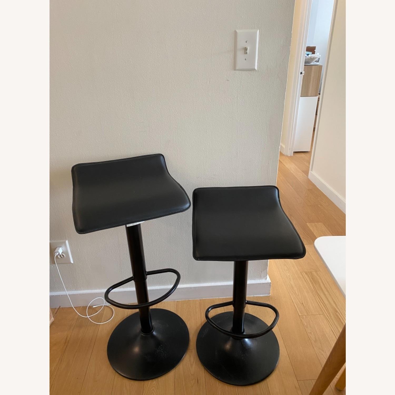 AllModern Set of 2 Black Adjustable Counter Stools - image-3