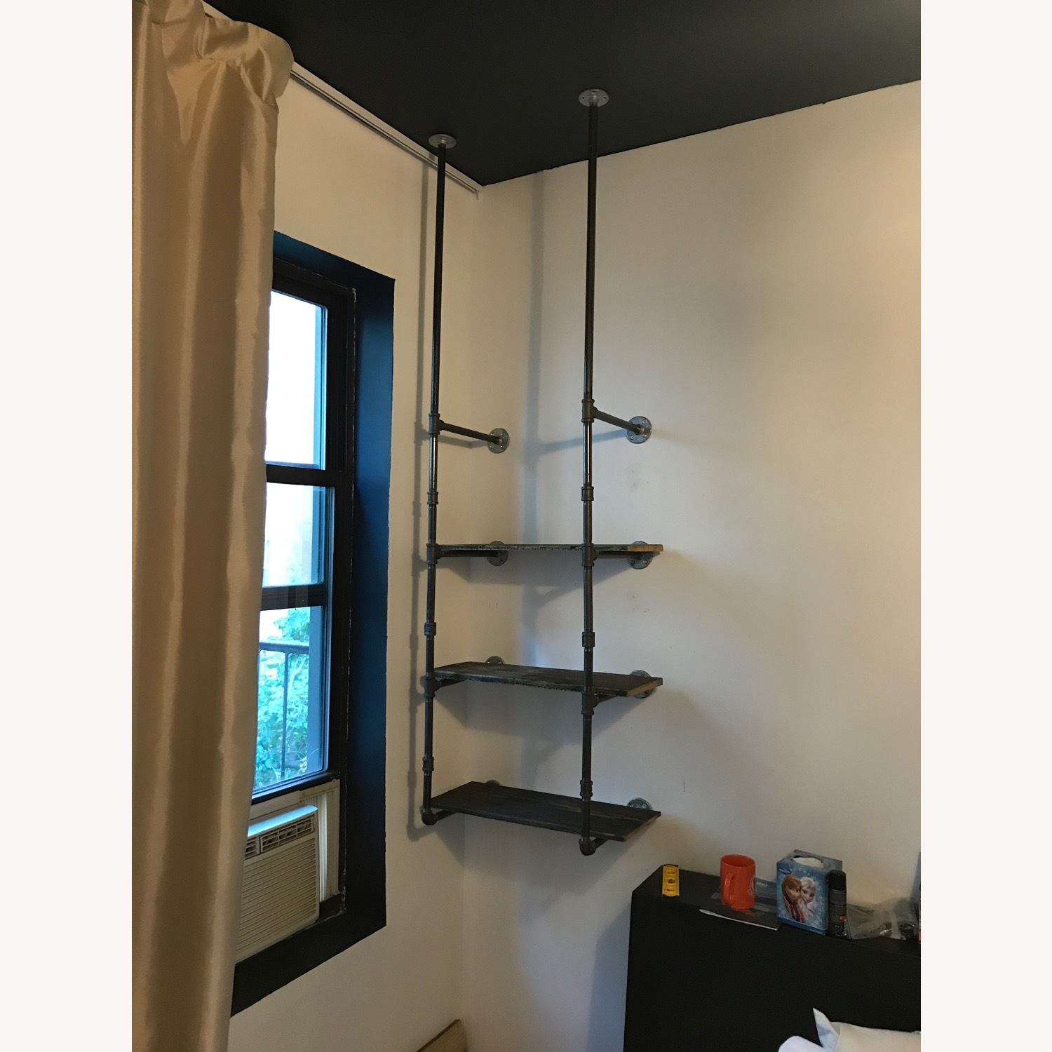 Custom Iron Pipe and Reclaimed Wood Shelves - image-13