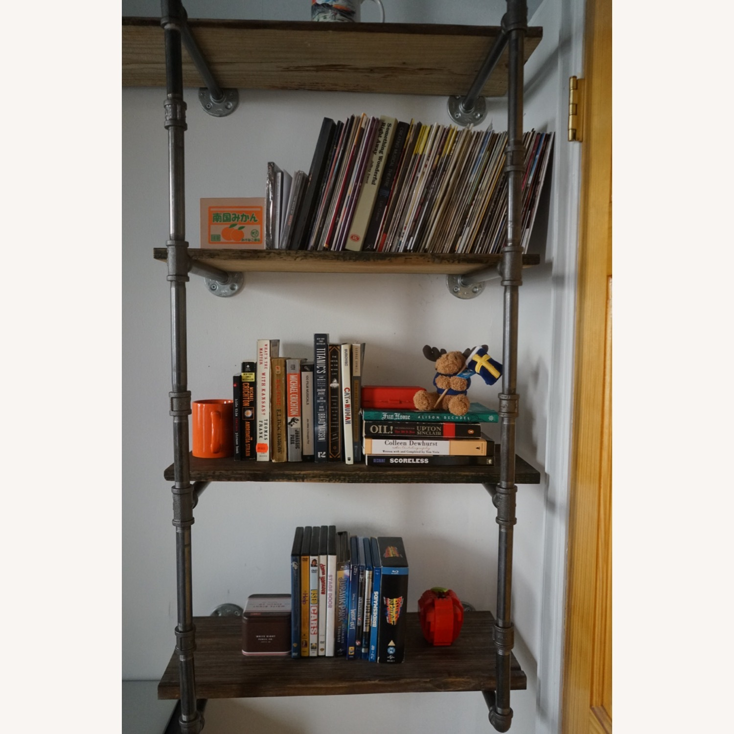Custom Iron Pipe and Reclaimed Wood Shelves - image-15
