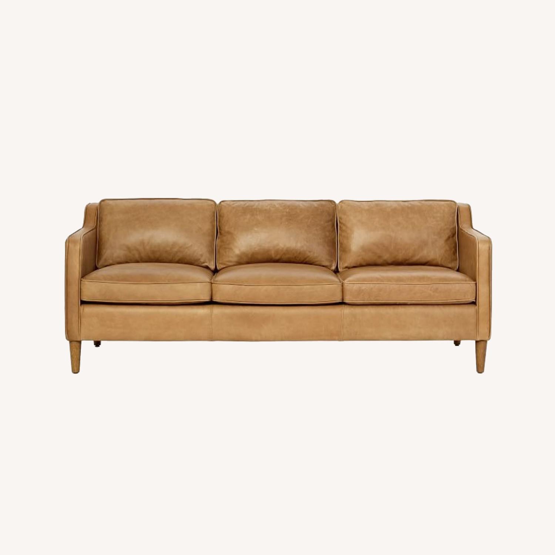 West Elm Hamilton Leather Sofa - image-0