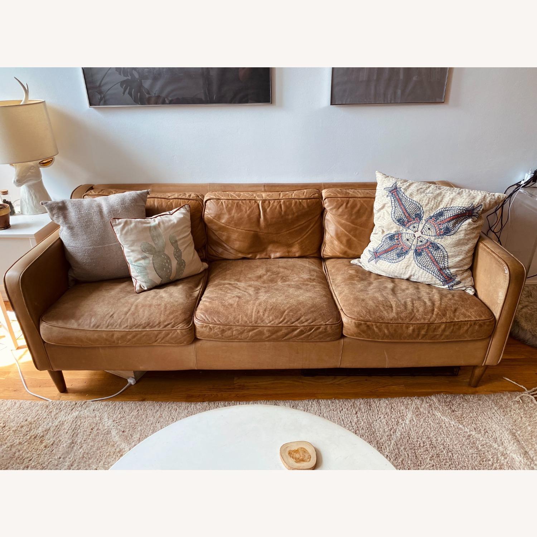 West Elm Hamilton Leather Sofa - image-2