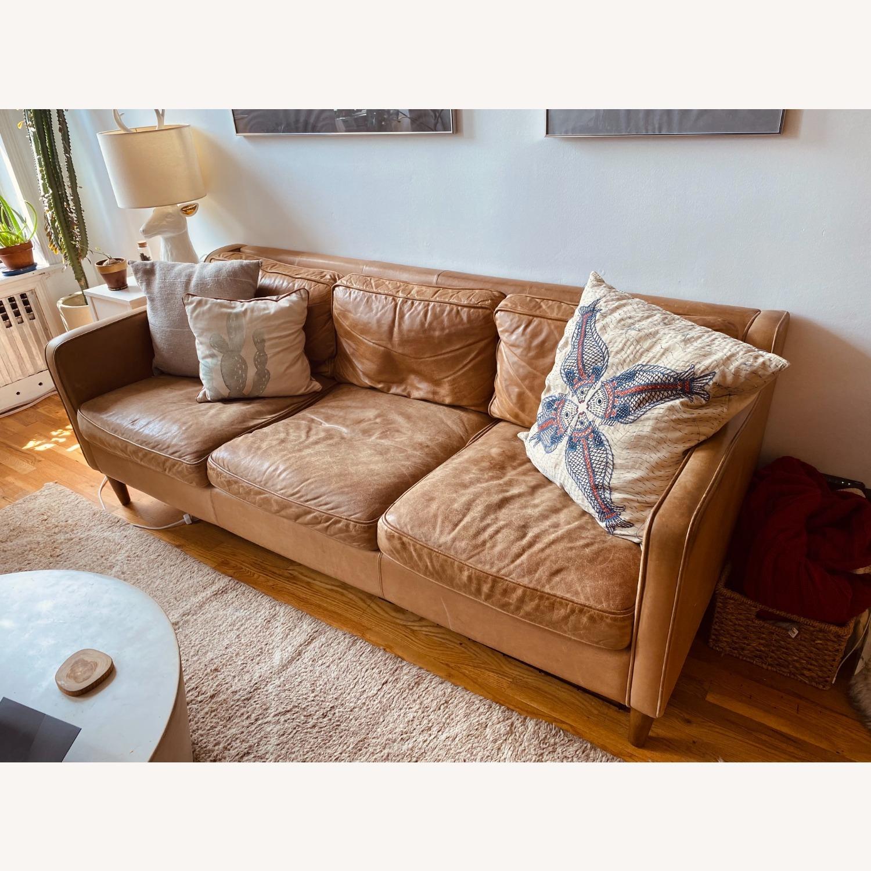 West Elm Hamilton Leather Sofa - image-1