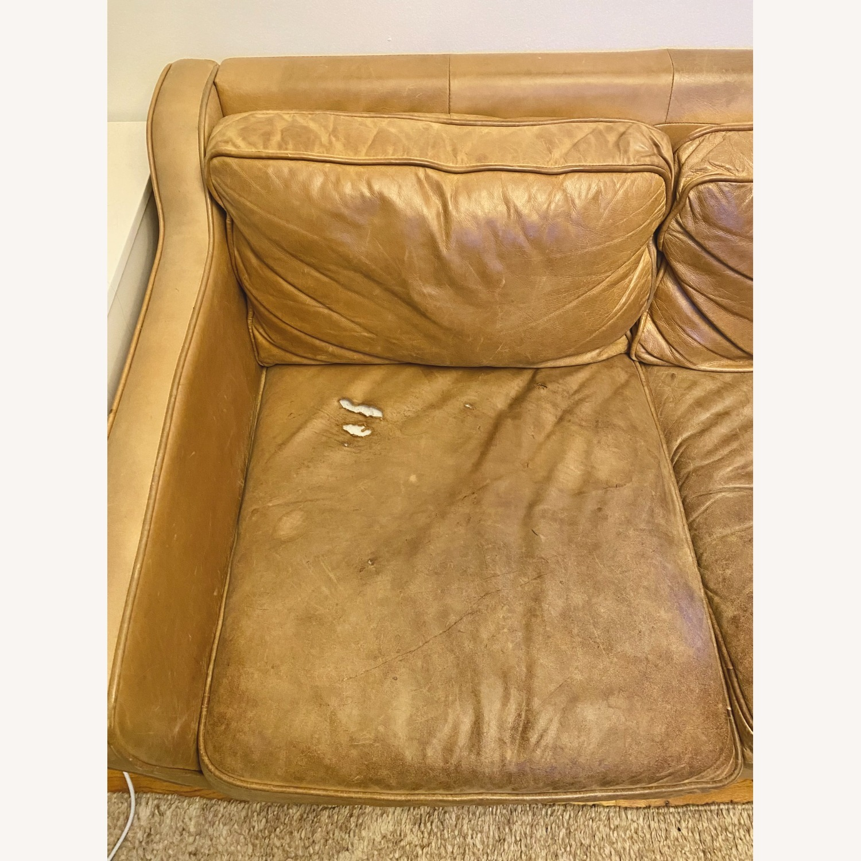West Elm Hamilton Leather Sofa - image-7