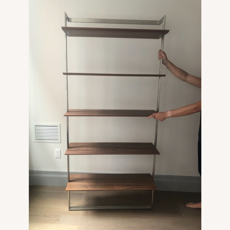 Room & Board Walnut & Steel Beam Bookcase - image-1