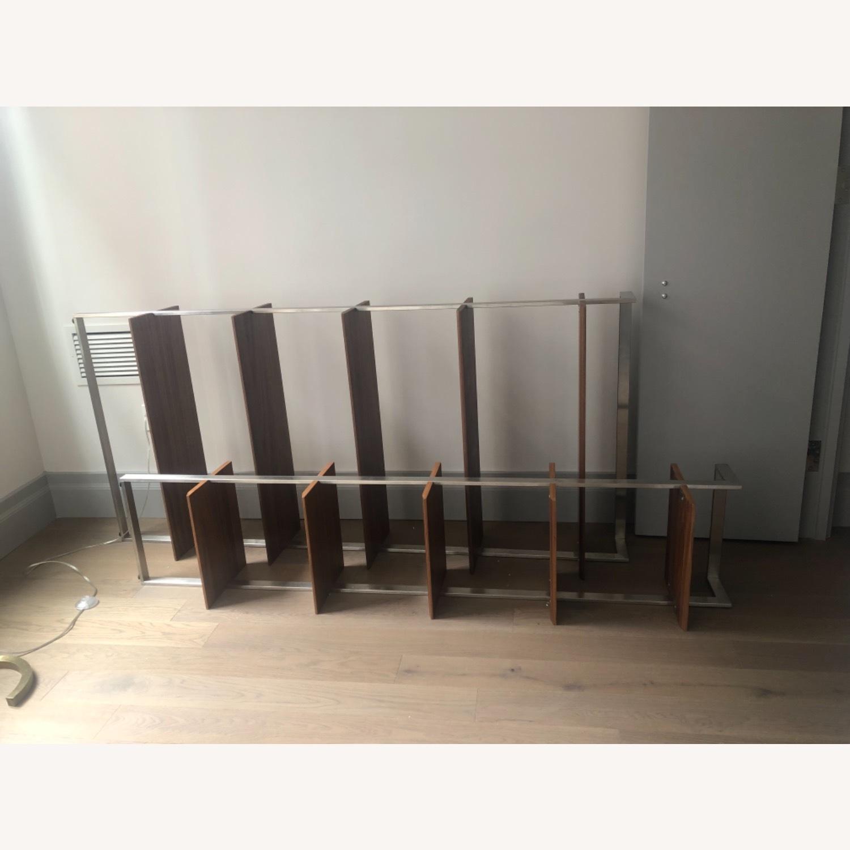 Room & Board Walnut & Steel Beam Bookcase - image-2