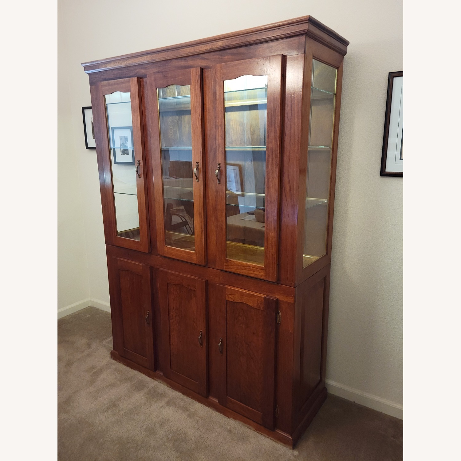 Solid Cherry Hutch - image-3