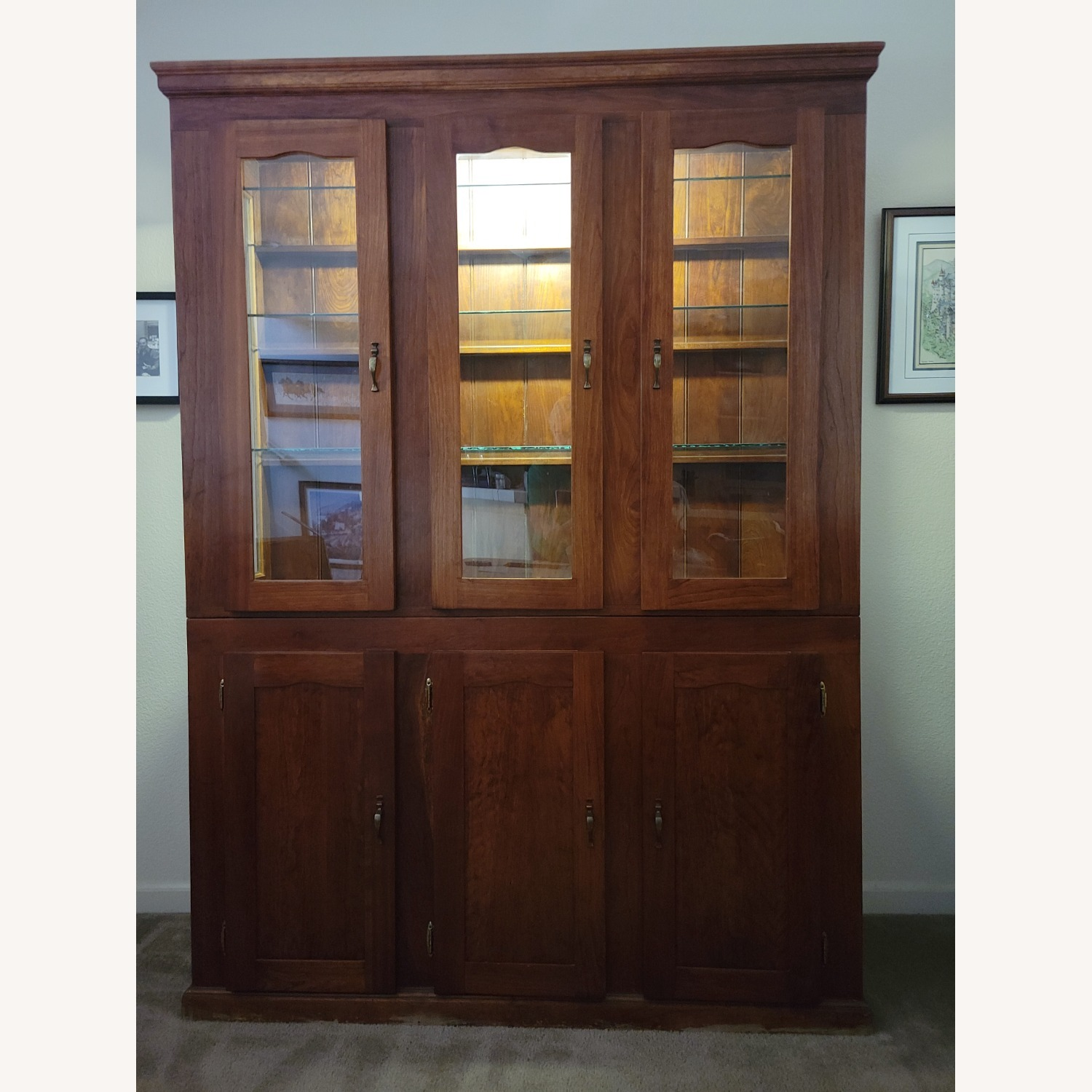 Solid Cherry Hutch - image-1
