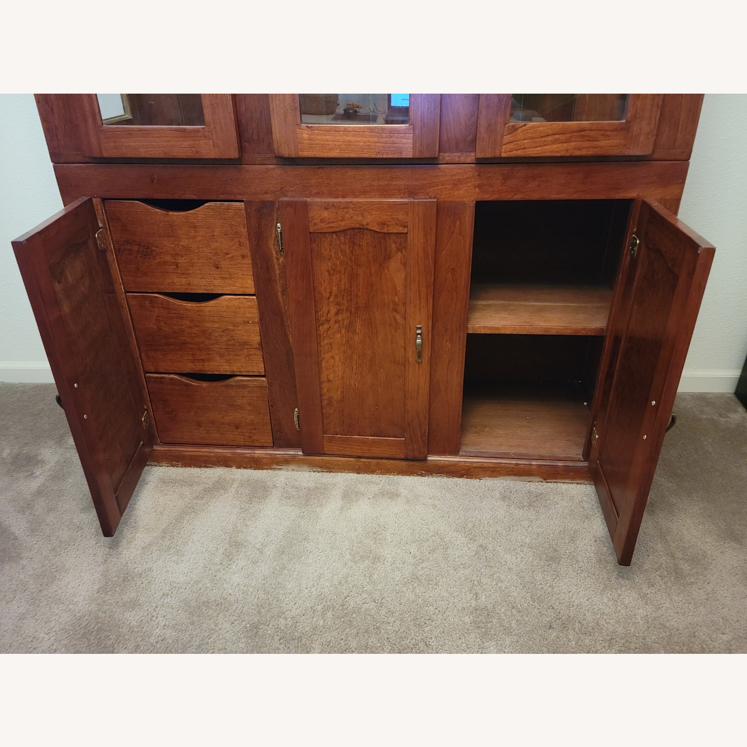 Solid Cherry Hutch - image-2