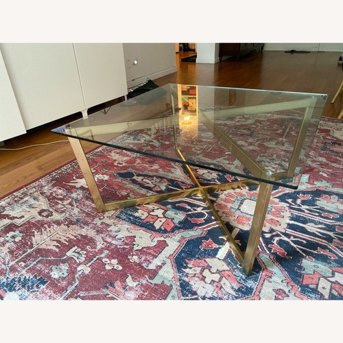 "Used Magnolia Rust/Ivory Lucca Rug 7'6""x9'6"" for sale on AptDeco"
