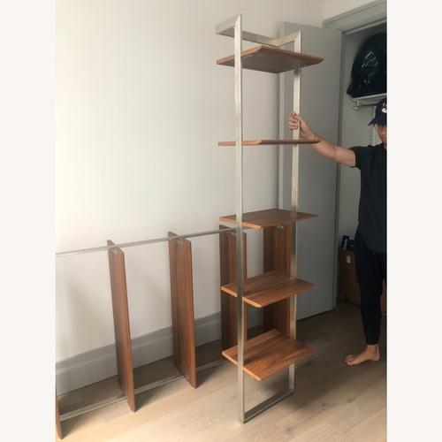 Used Room & Board Walnut & Steel Beam Bookcase for sale on AptDeco