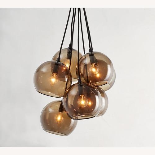 Used Pottery Barn Reina Glass Cluster Pendant for sale on AptDeco