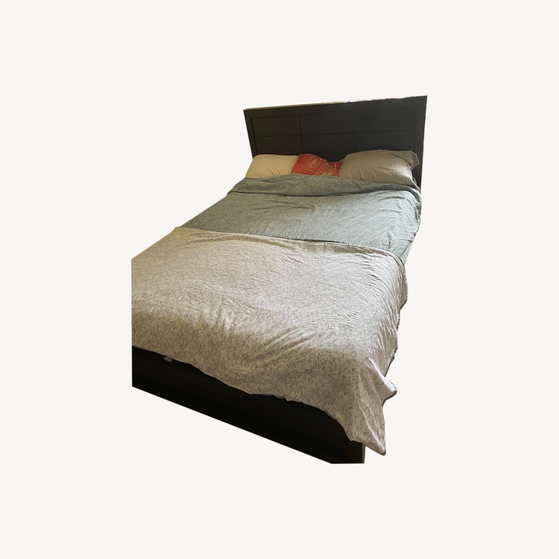 Raymour & Flanigan Espresso Platform Bed - Queen - image-0