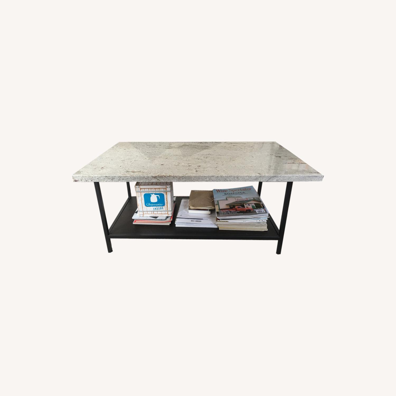 White Granite Custom Coffee Table - image-0