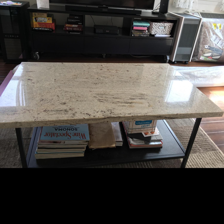White Granite Custom Coffee Table - image-1