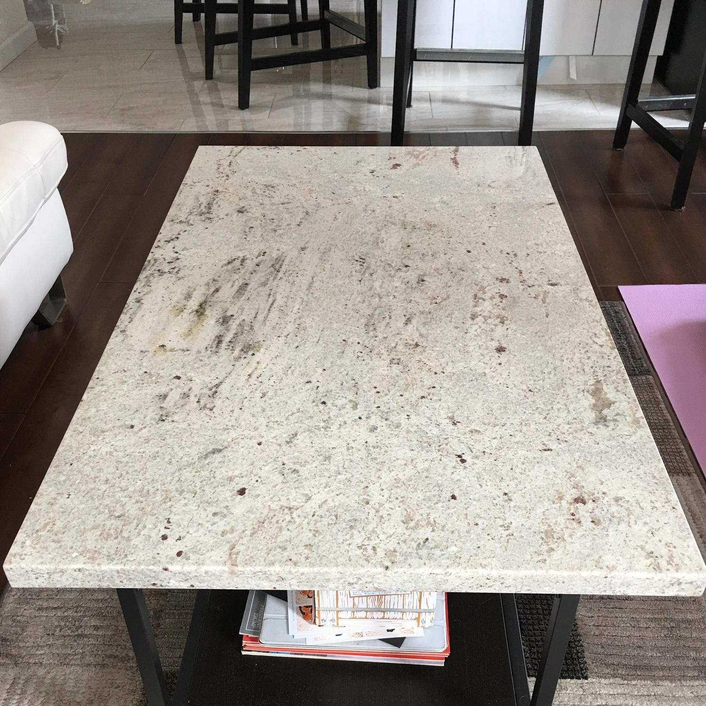 White Granite Custom Coffee Table - image-2