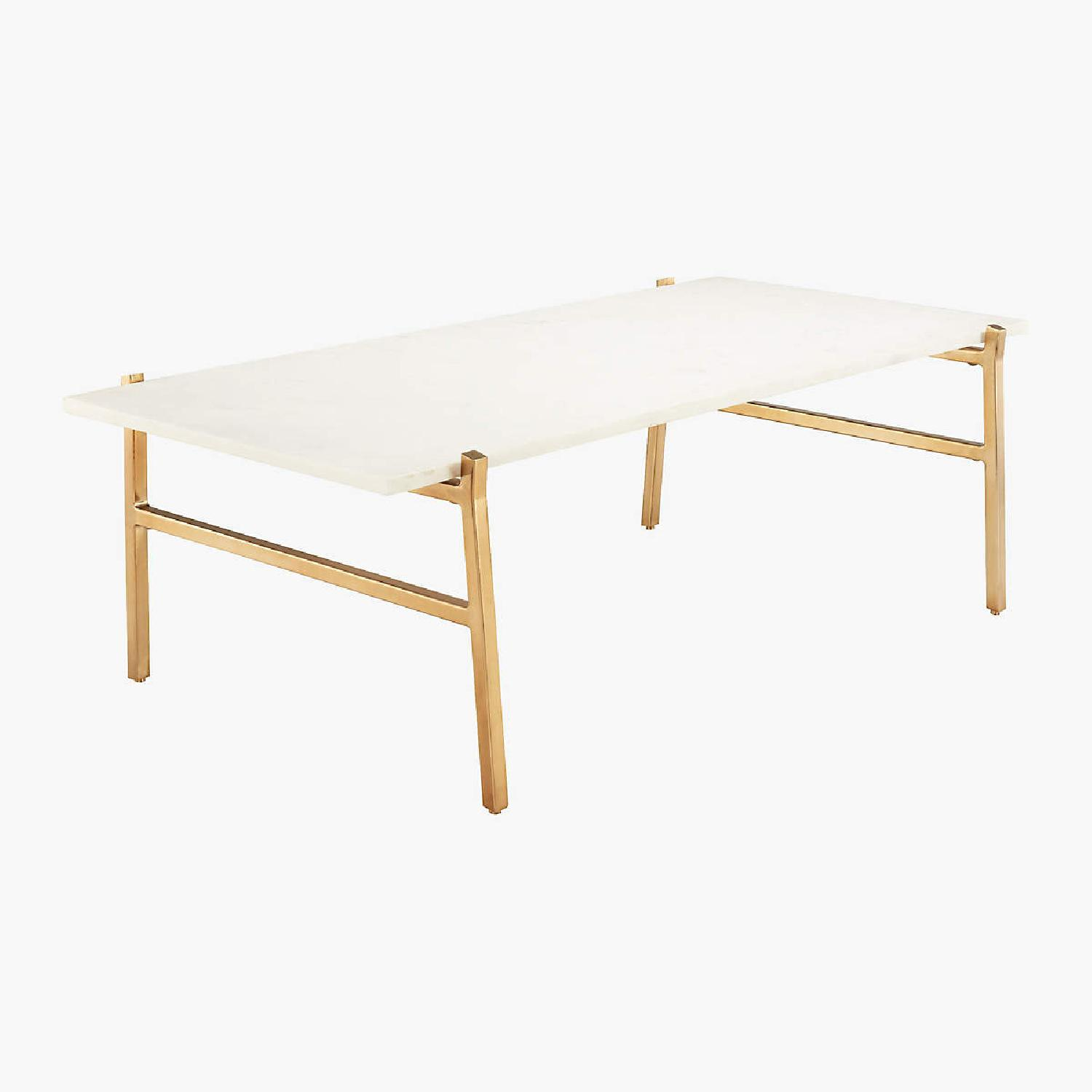 CB2 Slab Small Marble Coffee Table - image-5