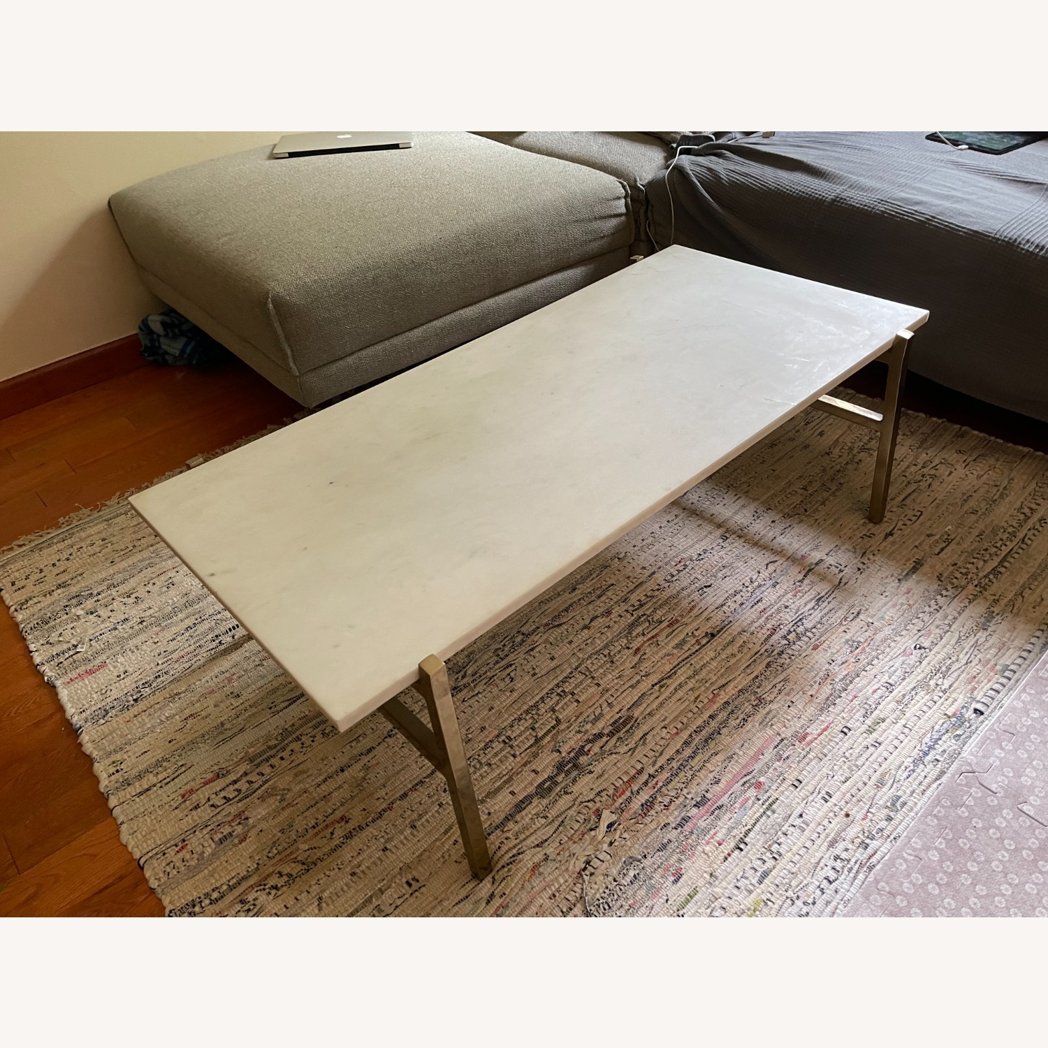 CB2 Slab Small Marble Coffee Table - image-3