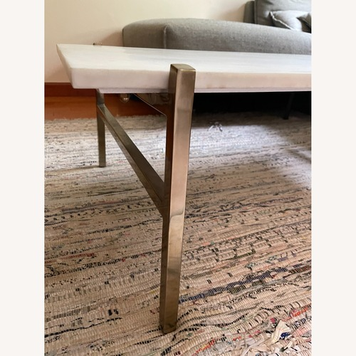 Used CB2 Slab Small Marble Coffee Table for sale on AptDeco
