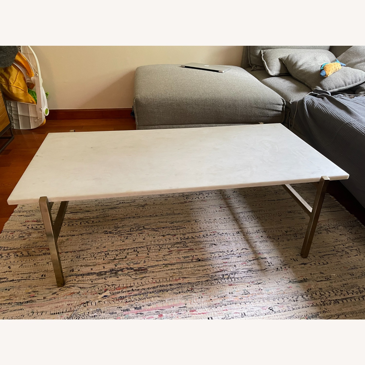CB2 Slab Small Marble Coffee Table - image-2