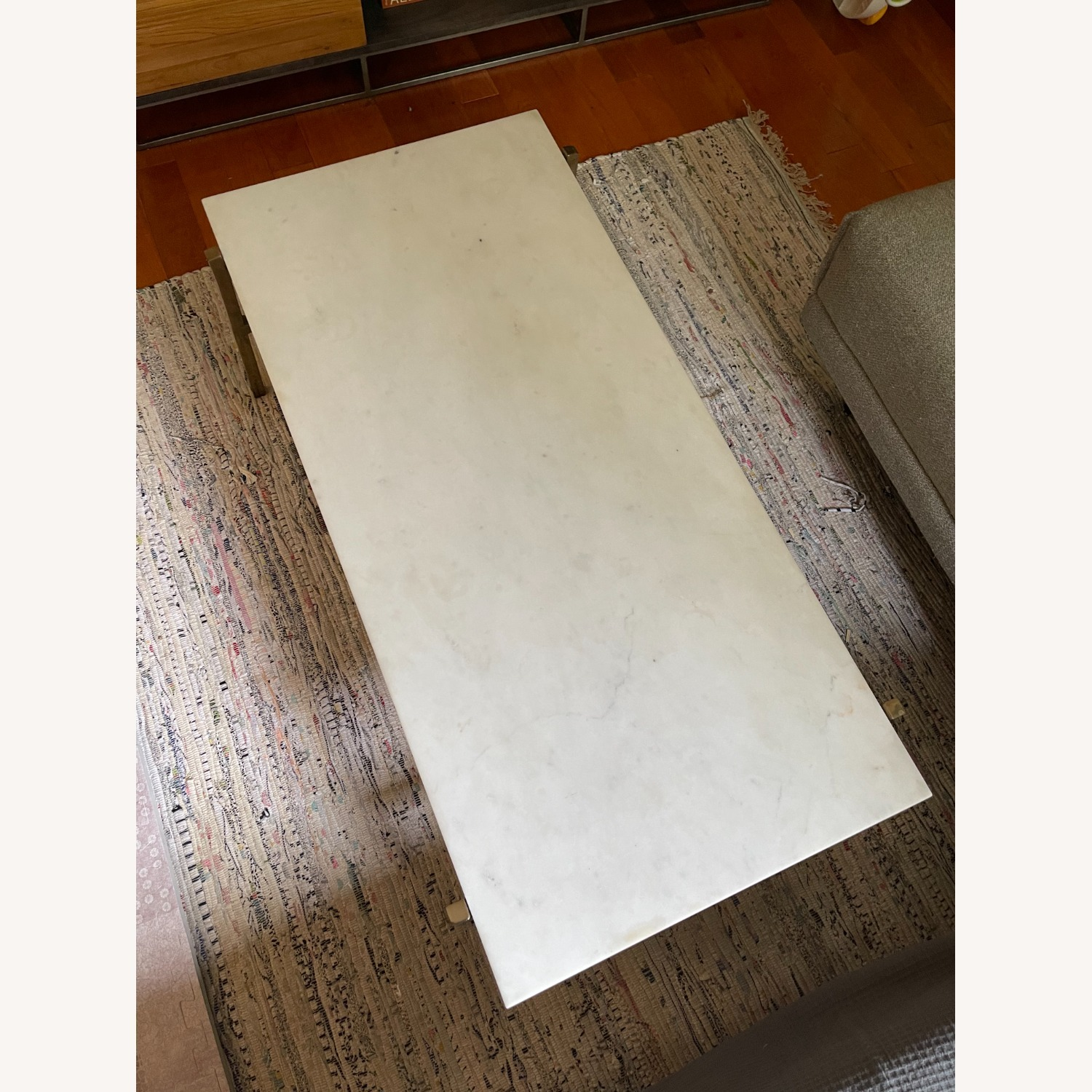 CB2 Slab Small Marble Coffee Table - image-4
