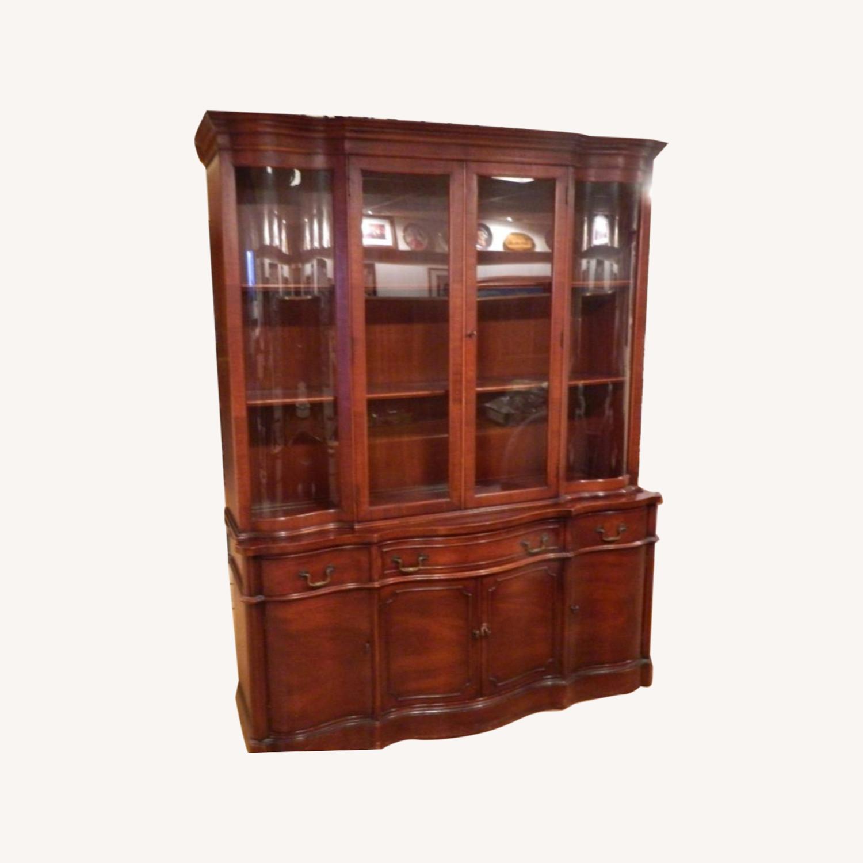 Morganton China Cabinet w Serpentine Glass - image-0