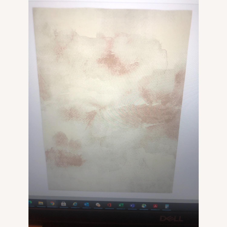 West Elm Cloudscape 6x9 Rug Flax / Pink - image-1