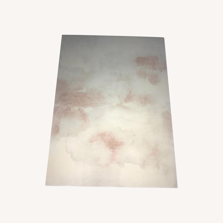 West Elm Cloudscape 6x9 Rug Flax / Pink - image-0