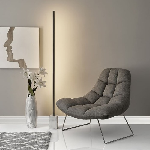 Used West Elm Modern LED Marble Washer Floor Lamp for sale on AptDeco