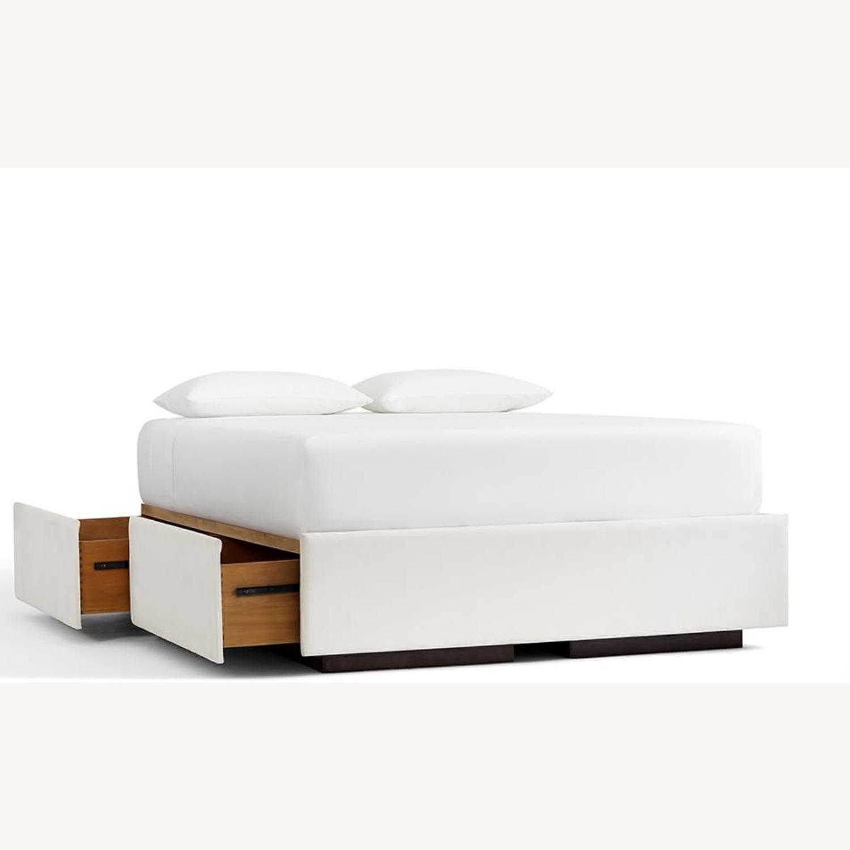 Pottery Barn Upholstered Platform Storage Bed - image-2
