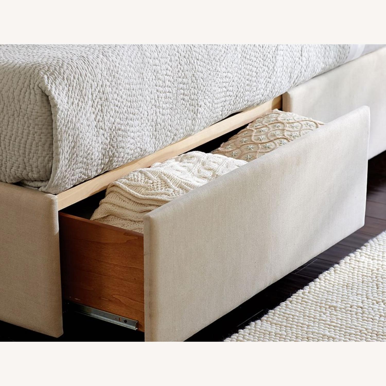 Pottery Barn Upholstered Platform Storage Bed - image-3