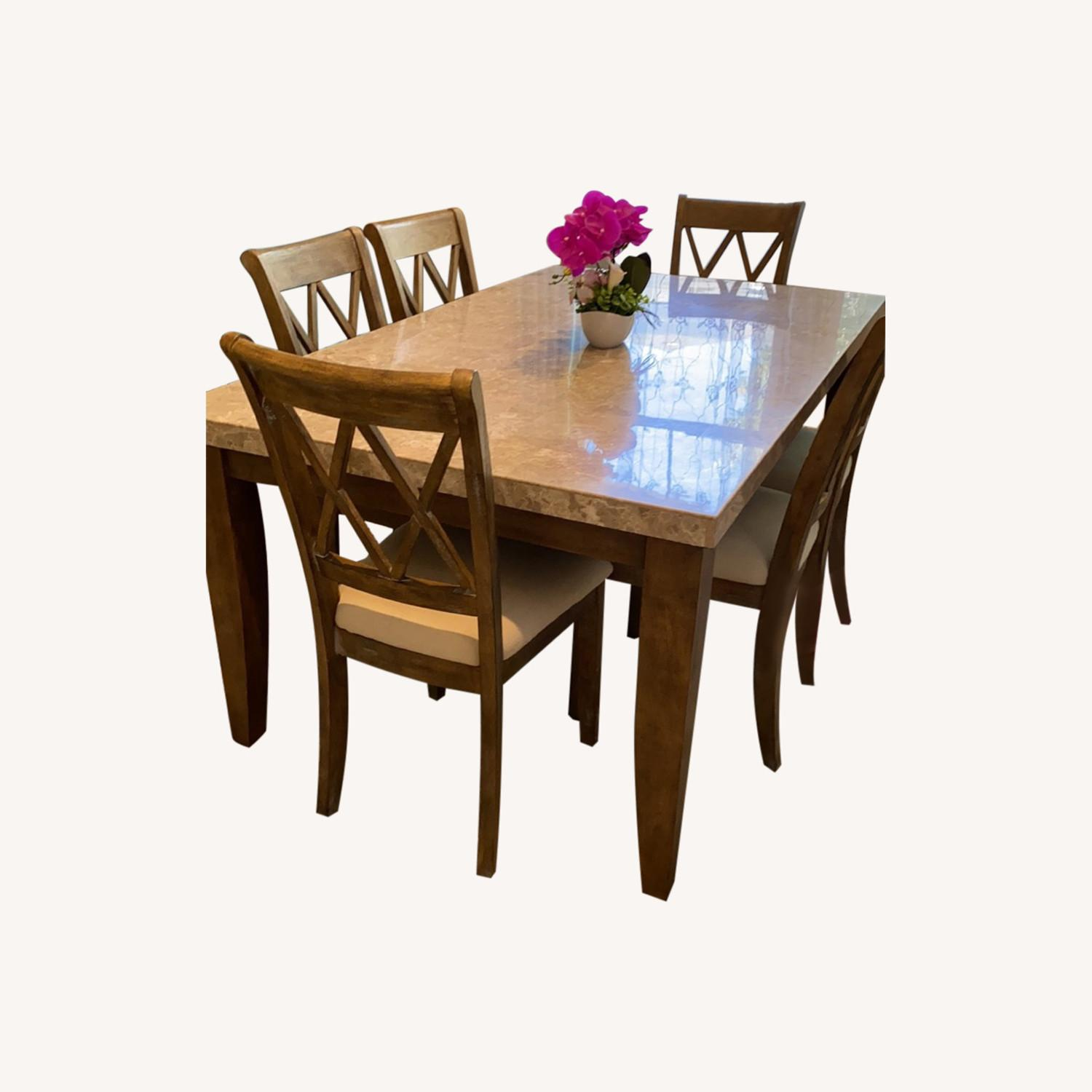 Marble Dining Table Set - image-0