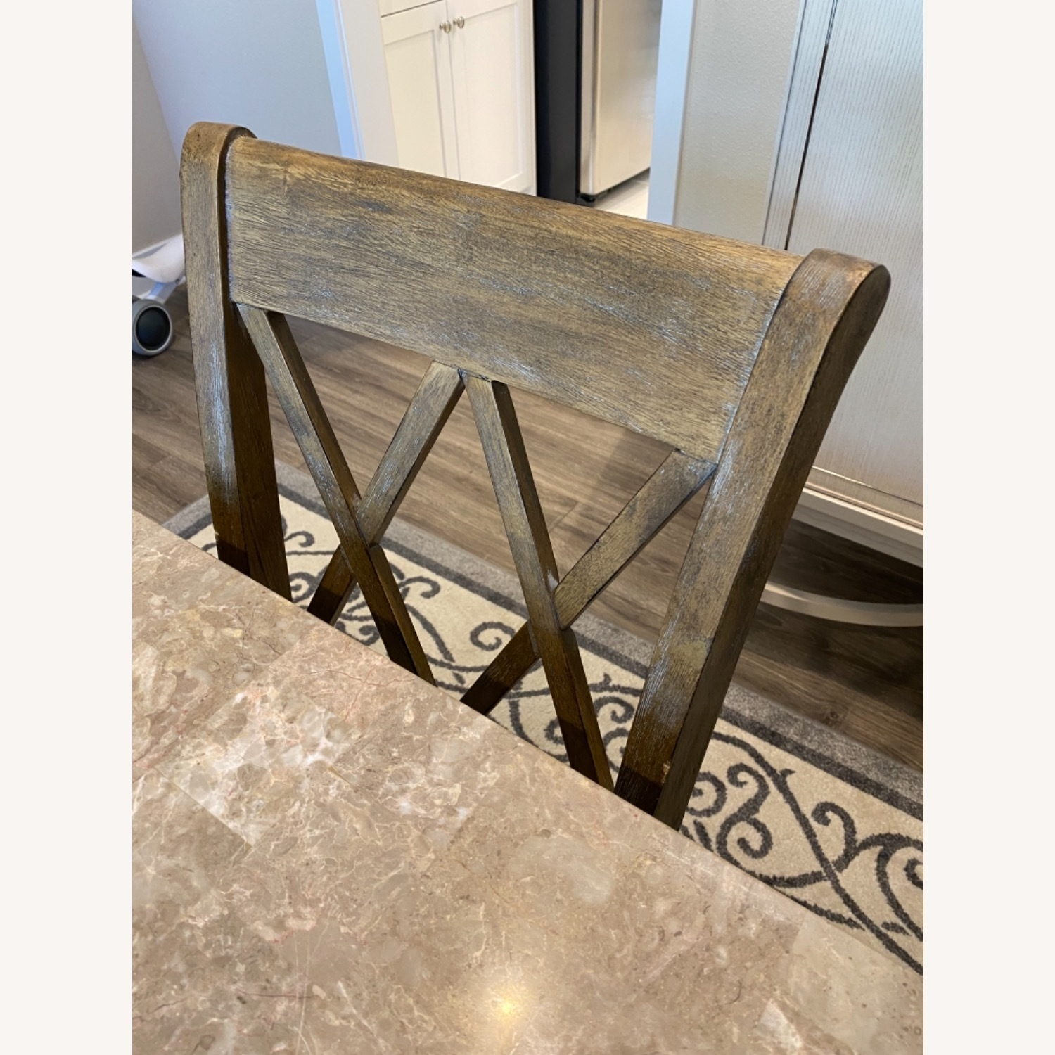 Marble Dining Table Set - image-3