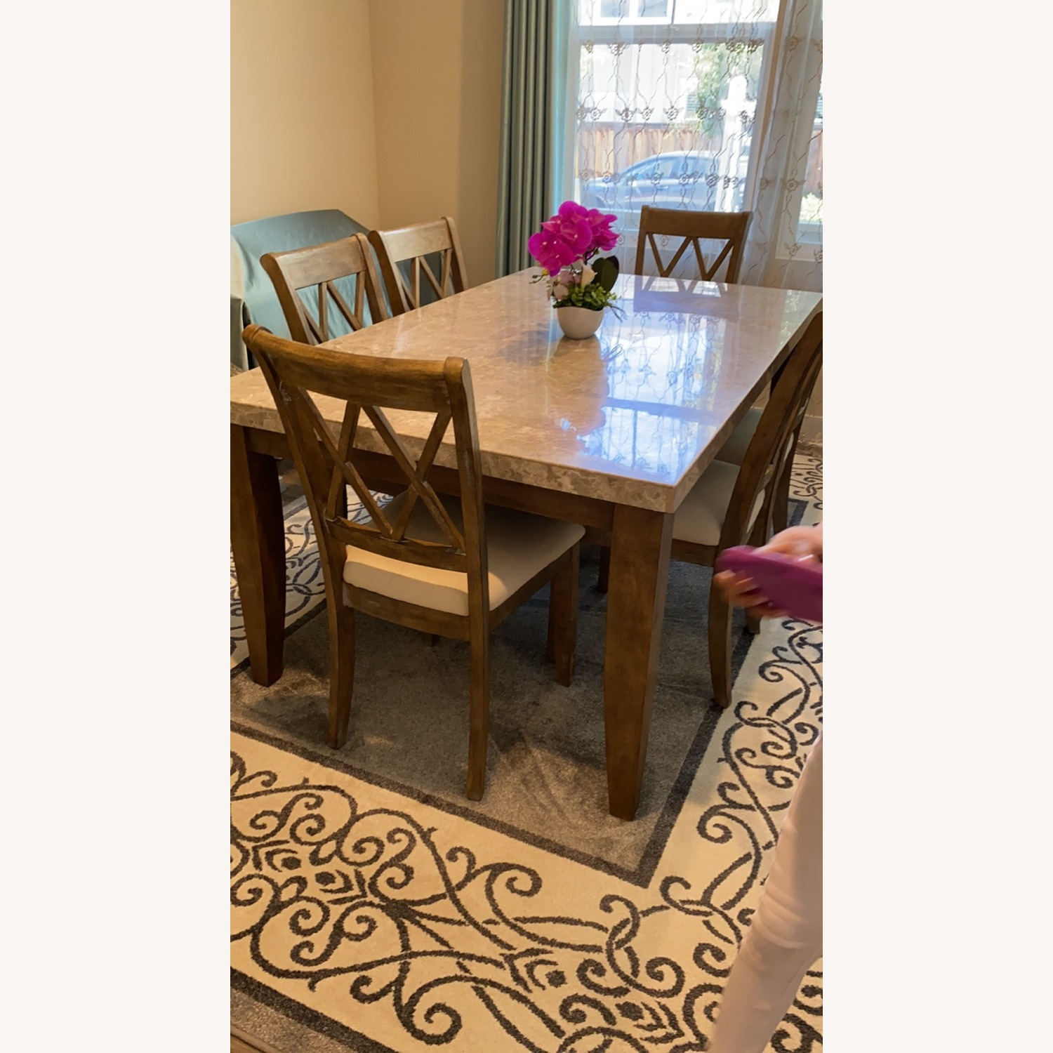 Marble Dining Table Set - image-1