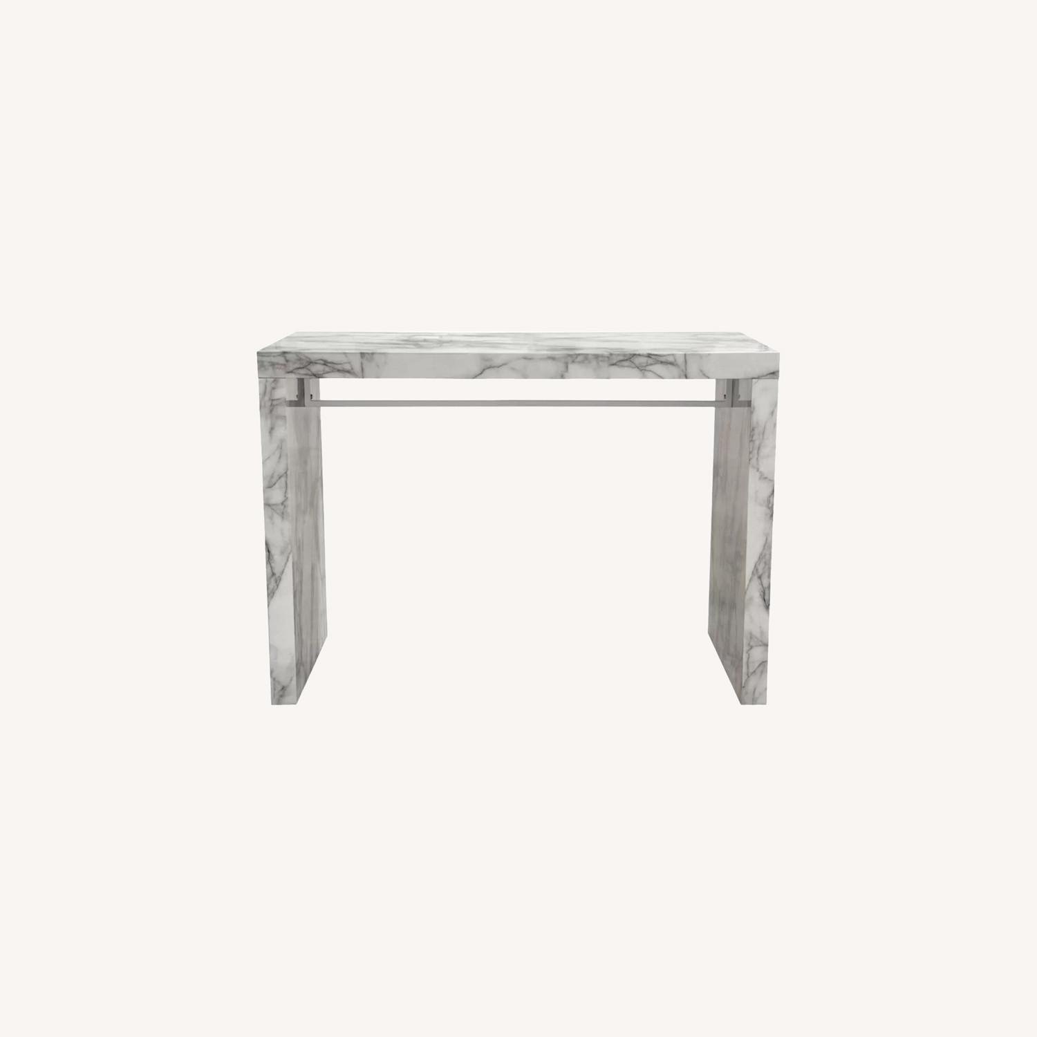 Icon Faux Marble Waterfall Bar Height Table - image-0